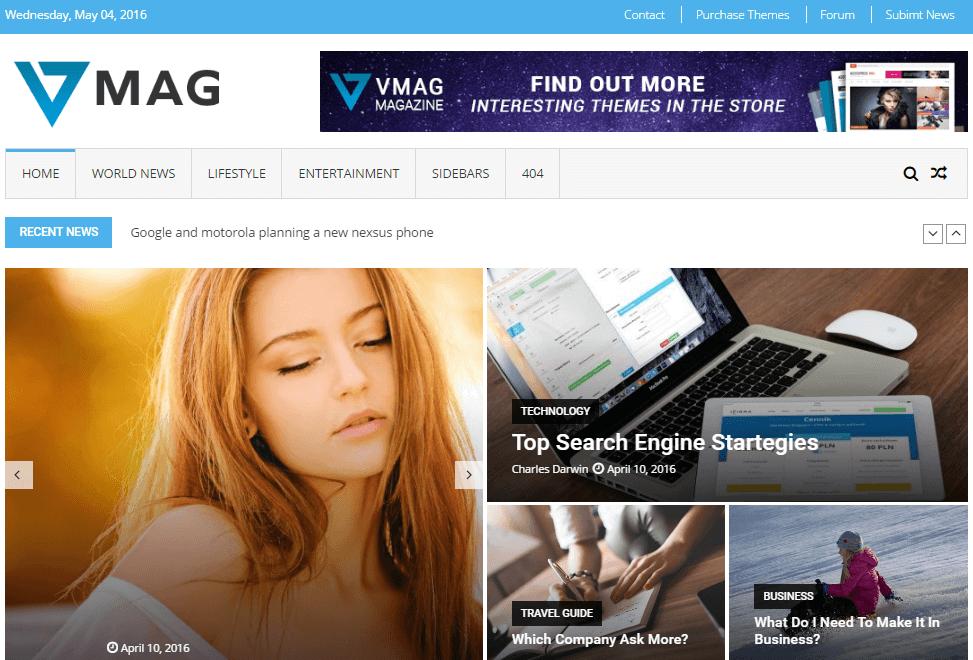 WordPress En İyi Ücretsiz Magazin Temaları 4