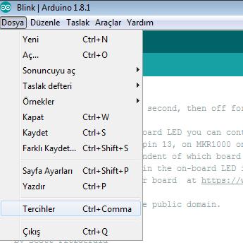 STM32F103 Arduino ide ile programlama 1
