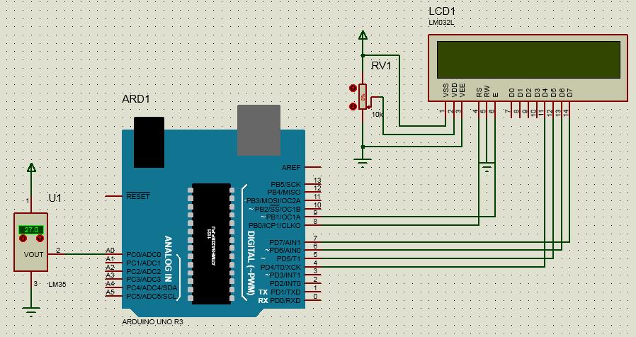 LM 35 ile Dijital Termometre Arduino 1