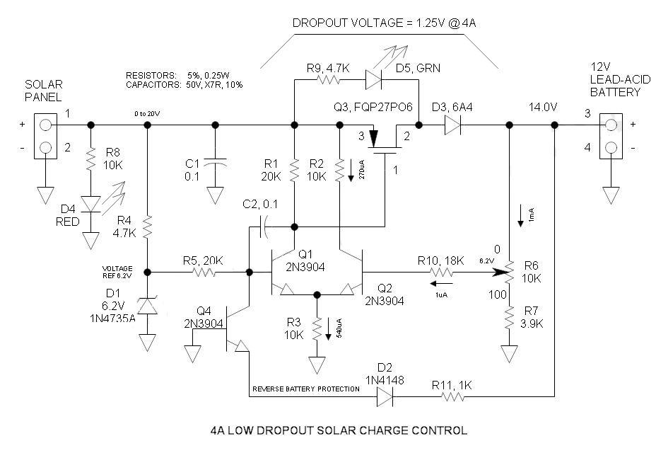 Güneş Paneli 12V Akü Şarj Devresi 1