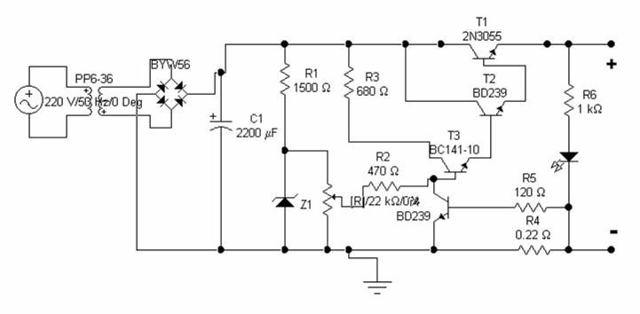 0-30 V Kısa Devre Korumalı Transistörlü Güç Kaynağı Modeli 3